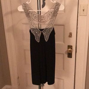 Foley + Corinna black beaded dress/tunic